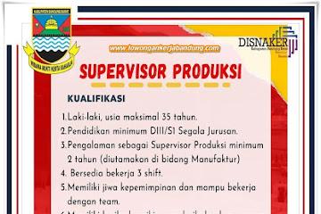 Lowongan Kerja Supervisor Produksi