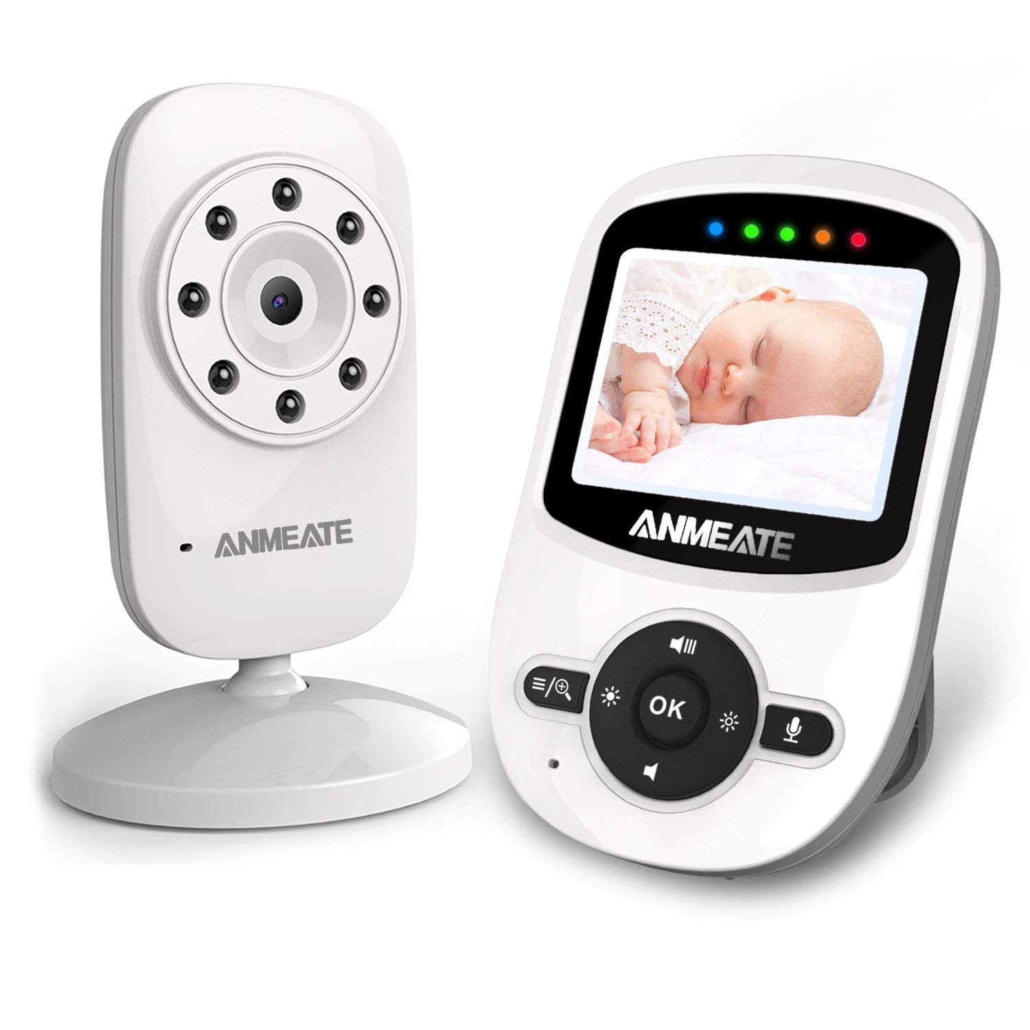 Video Baby Monitor with Digital Camera, ANMEATE Digital 2.4Ghz Wireless Video Monitor