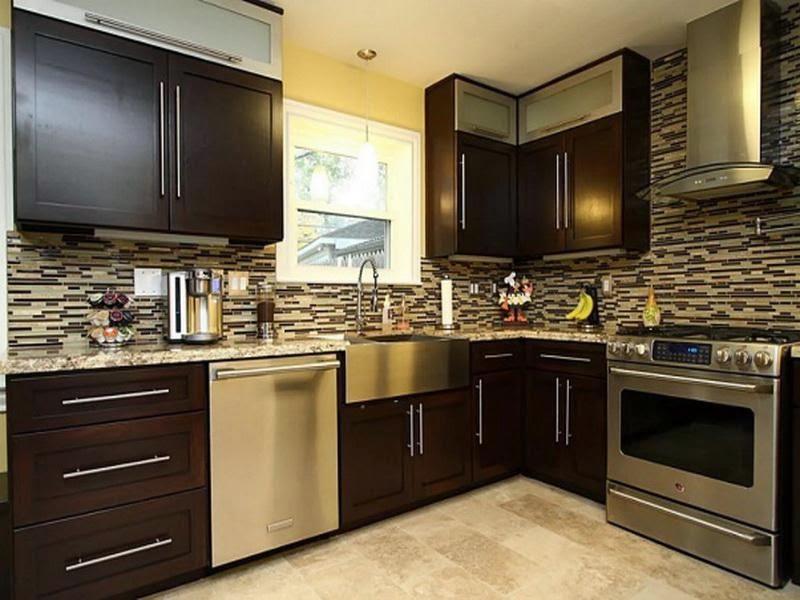 Amazing Kitchen Design With Brown Wood Cabinet Designs