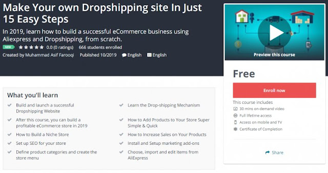 [100% Free] Make Your own Dropshipping site In Just 15 Easy Steps