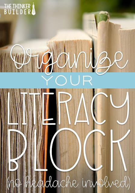 Take the headache out of organizing your literacy block. Step by step guidance to structure your time successfully! (A Blog Post from The Thinker Builder)