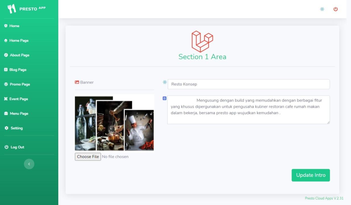 restoran online website aplikasi restoran cafe rumah makan