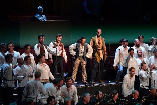 Berlioz: Benvenuto Cellini - Vincent Delhoume, Michael Spyres, Adele Charvet, Ashley Riches- BBC Proms (Photo BB*C / Chris Christodoulou)