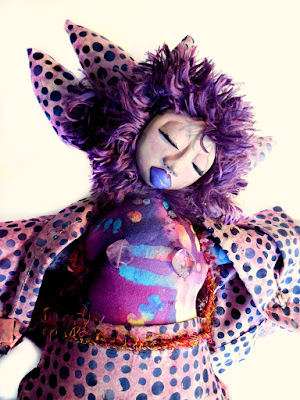 OOAK Purple Beaded Wild Woman Art Doll