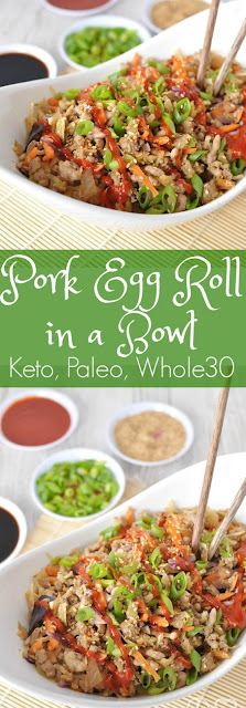 Low  Carb Pork Egg Roll In A Bowl #lowcarb