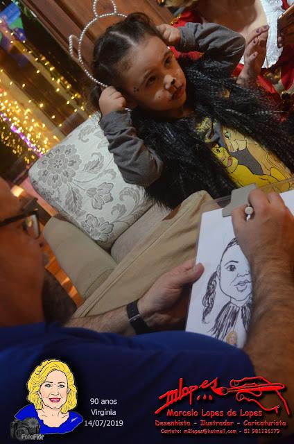 Desenhista Marcelo Lopes de Lopes em festa