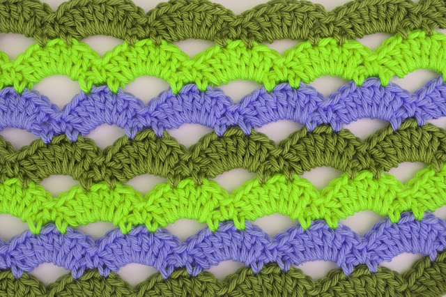 4 - Crochet Imagen Puntada de abanicos a crochet para blusas por Majovel Crochet