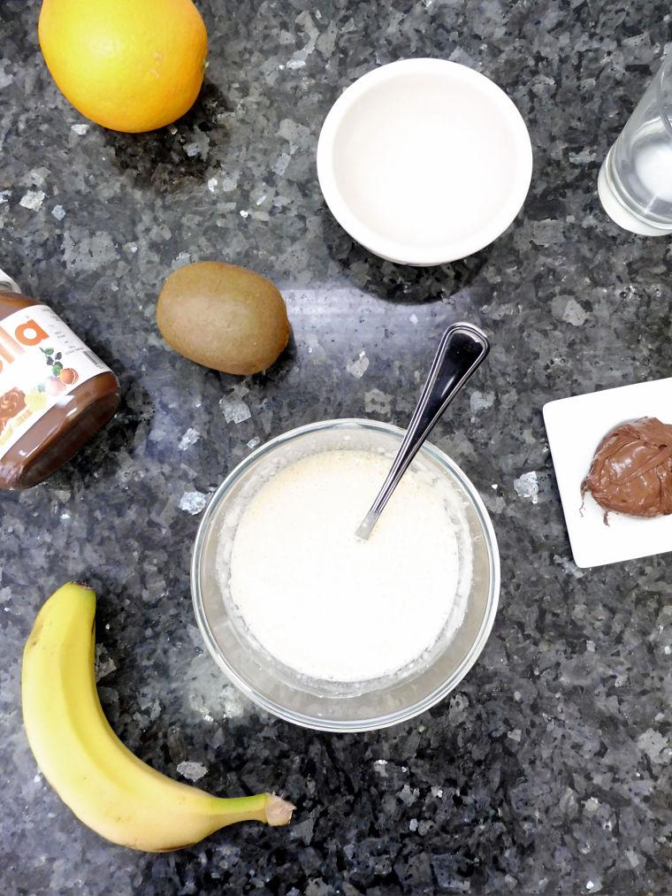 Crepe de Nutella, naranja, kiwi y plátano