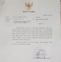 Sikapi Jalan Rusak Wera-Sape, Bupati Layangkan Surat ke Gubernur NTB