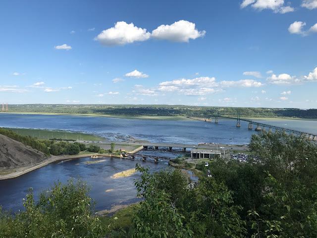 vue des chutes de Montmorency Québec