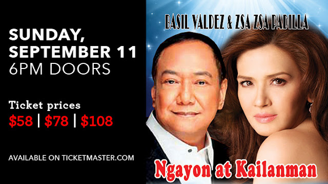 Watch Basil Valdez & Zsa Zsa Padilla 'Ngayon At Kailanman' - September 11, Graton Resort & Casino, Rohnert Park, CA