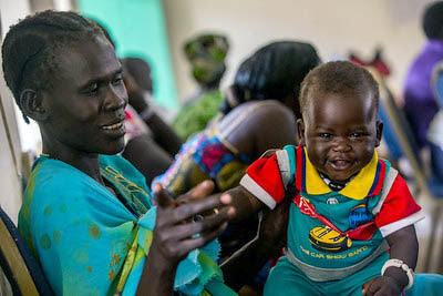 South Sudan mother and son.