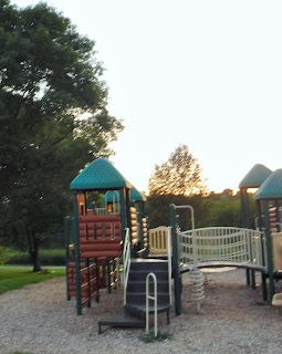 part of a large play structure at Bacon Creek Park