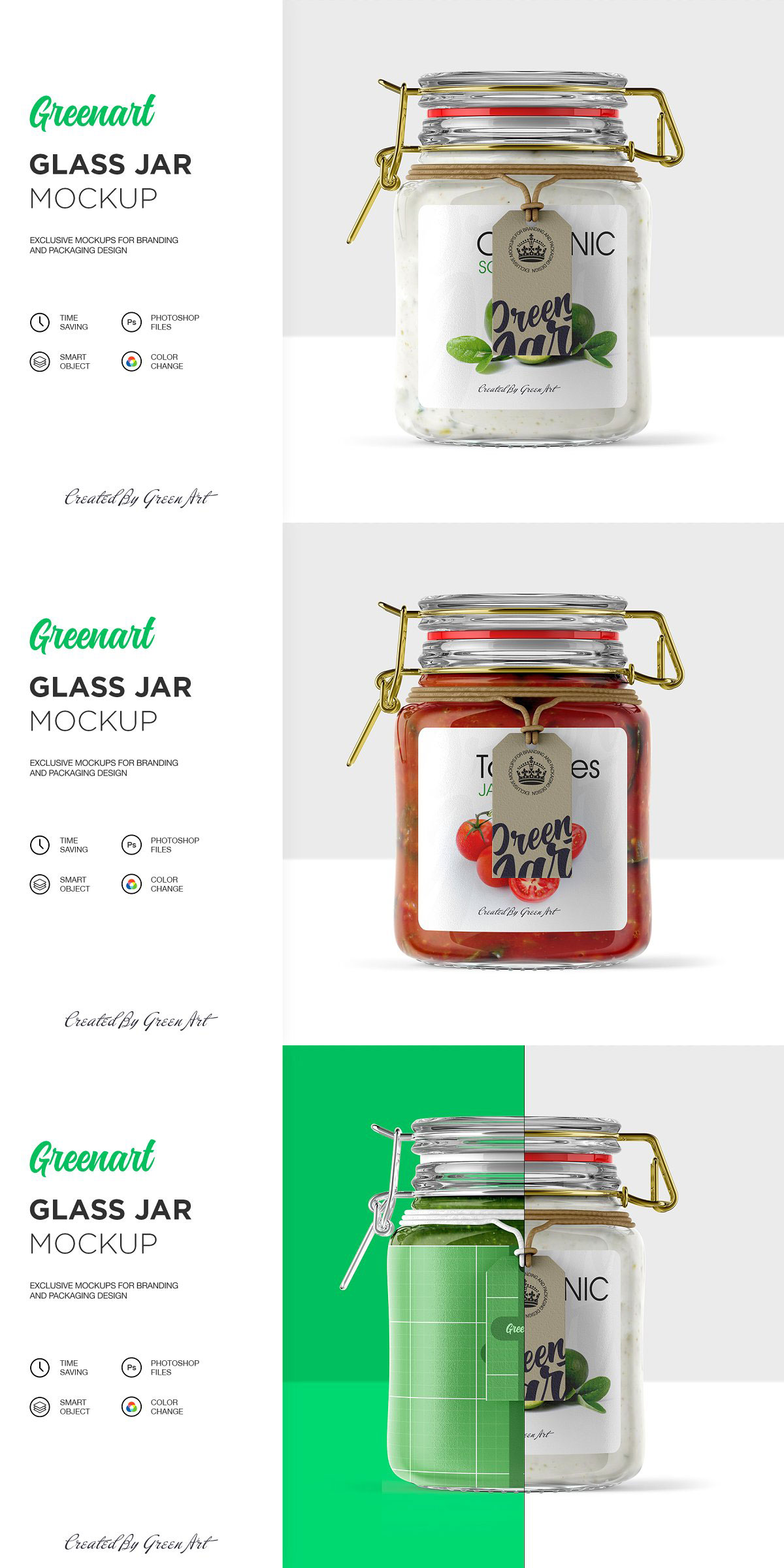 Clear Glass Jar Mockup 2342720 Free Download