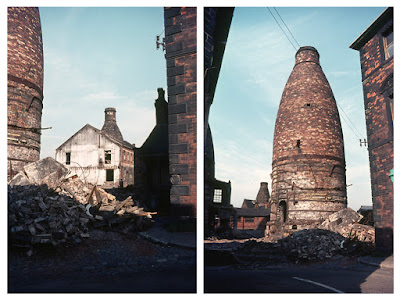 Longton Demolition of the Garfield Works Photos: Terry Woolliscroft Collection   Date: May 1975