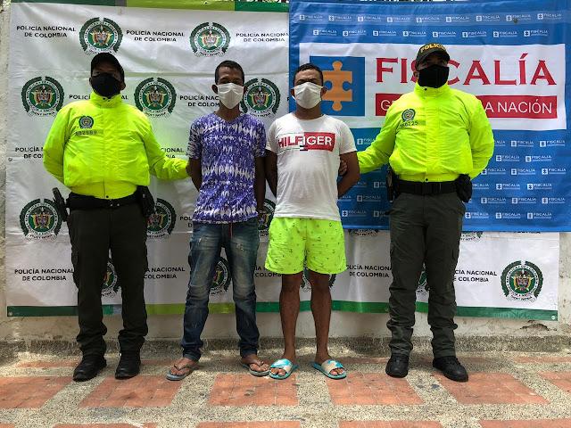Por homicidio 'La Perra y 'El Pilla' presuntos miembros de 'Los Pachencas' cayeron en Mingueo