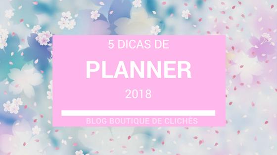 preço de Planners para 2018