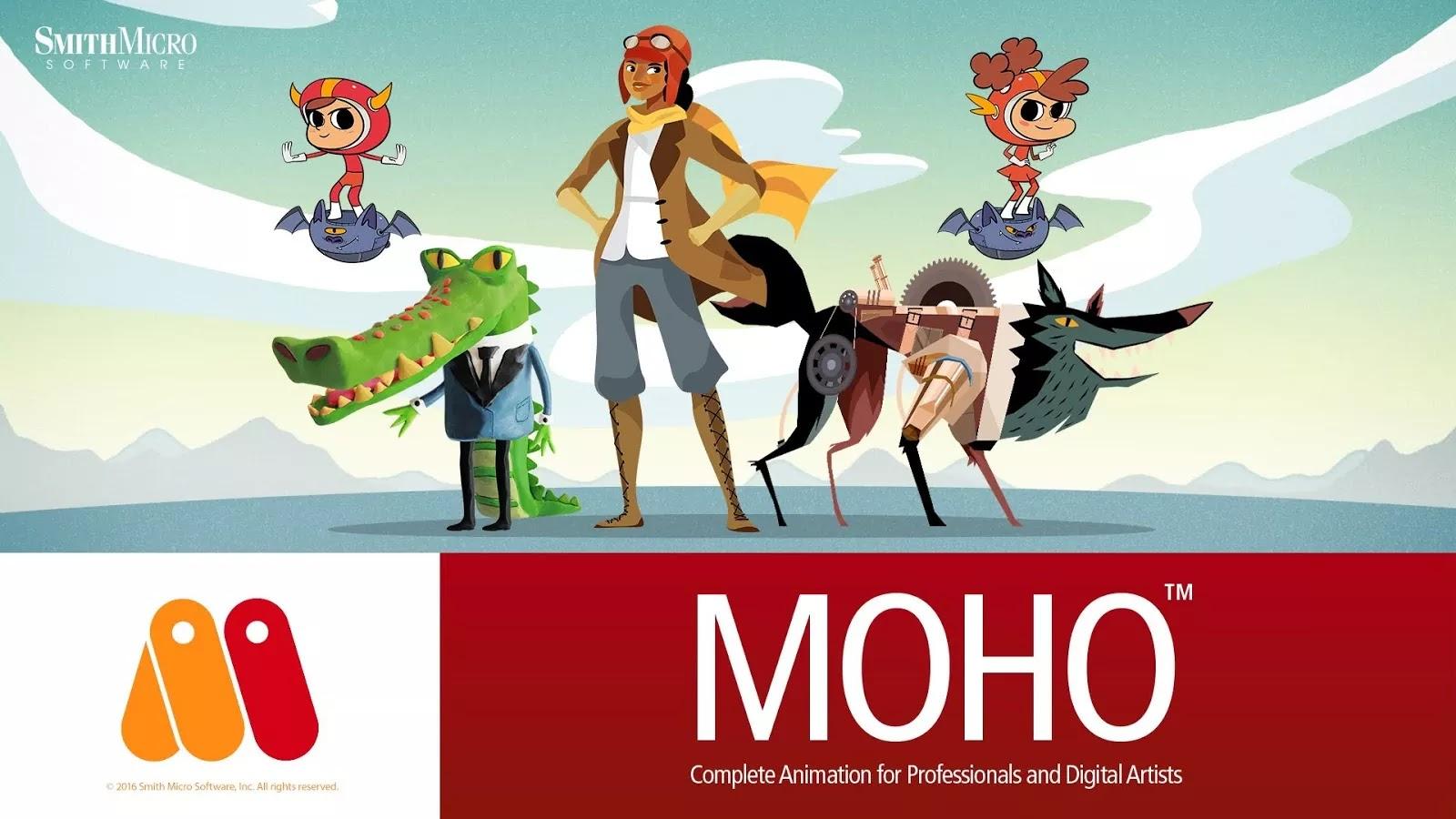 تحميل برنامج Smith Micro Moho Pro 13 لإنشاء رسوم متحركة احترافية