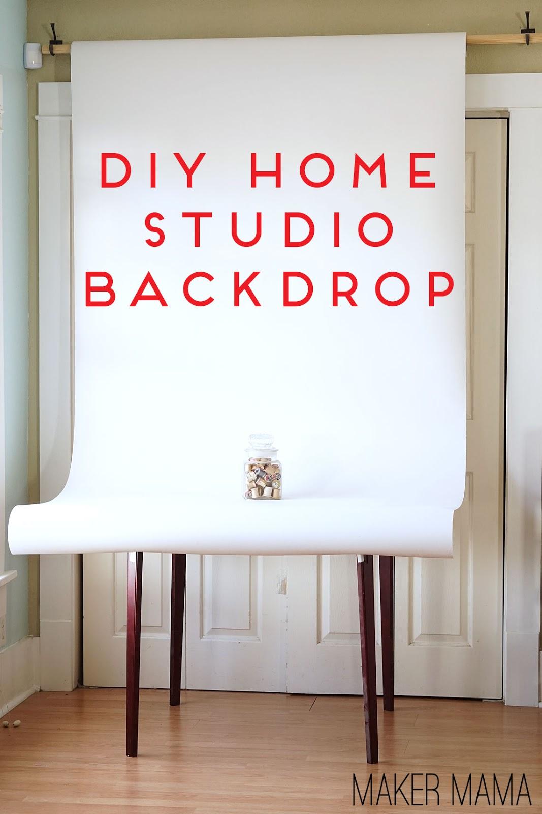 House Plan Maker Maker Mama Craft Blog Diy Home Studio Backdrop