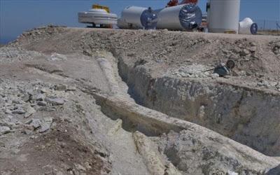 Λέσβος: Αποκαλύφθηκαν δυο «γιγάντιοι» κορμοί απολιθωμένων δένδρων