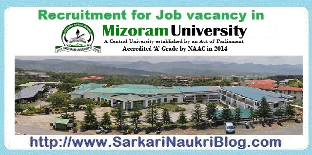 Naukri Vacancy Recruitment Mizoram University