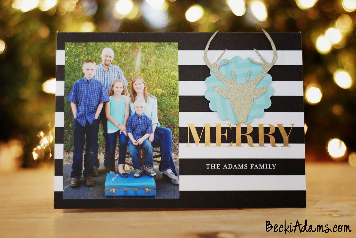 Becki Adams: Personalized Christmas Cards