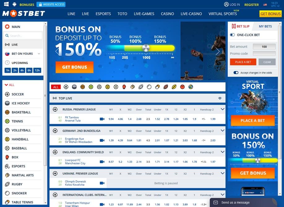 Mostbet Review and \u20ac300 Sport Bonus - Top 100 Bookmakers