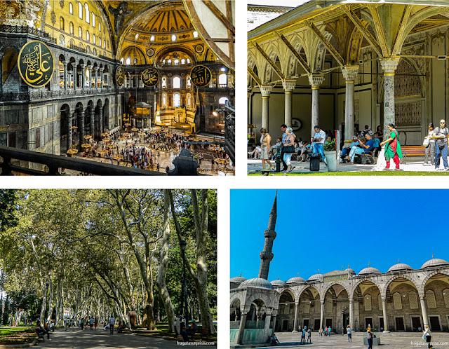 Istambul: Basílica de Santa Sofia, Palácio de Topkápi, Mesquita Azul e Jardins Gülhane