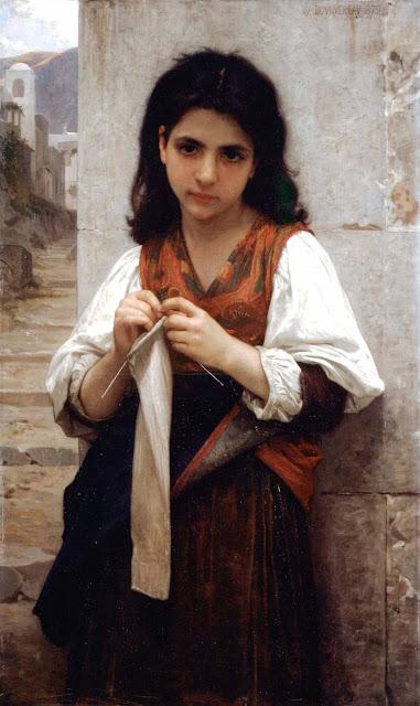 Адольф Вильям Бугро - Вязальщица (1879)