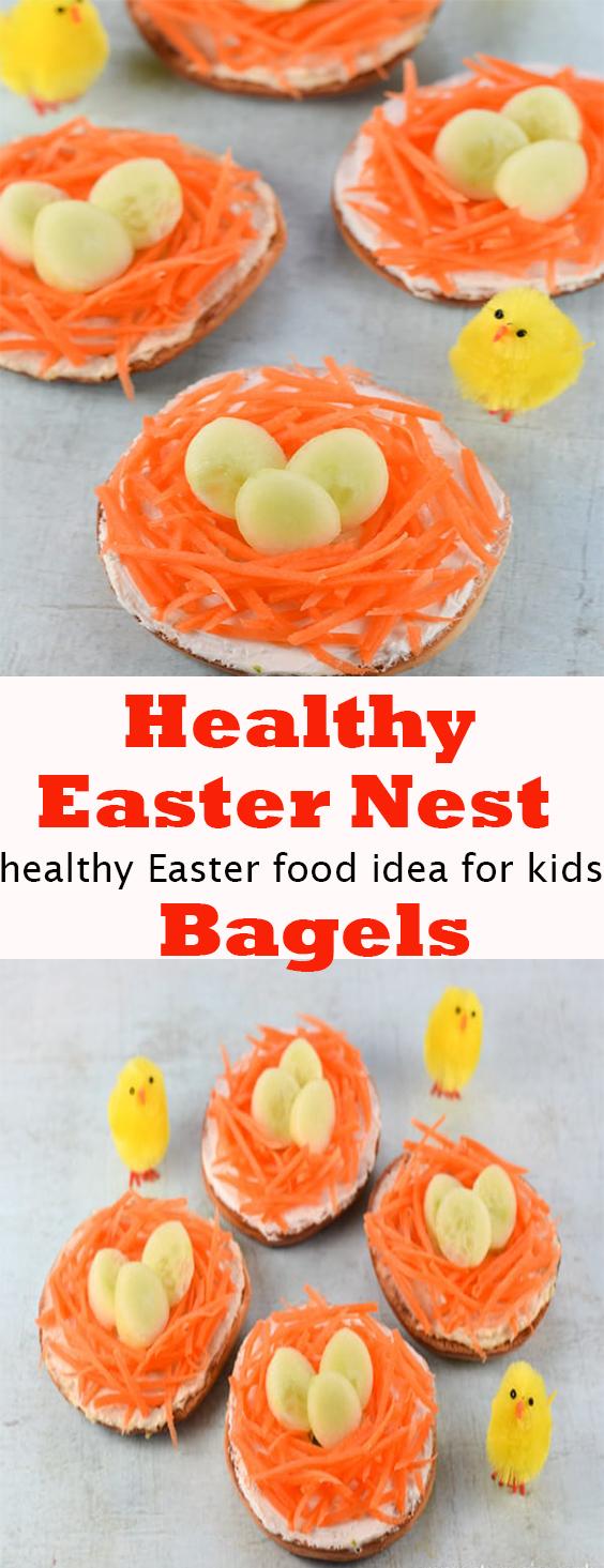 Healthy Easter Nest Bagels