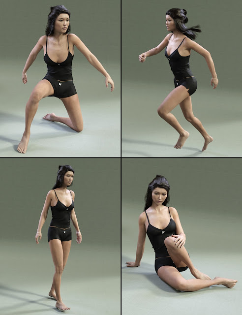 Mei Lin 7 Variety Pose Pack