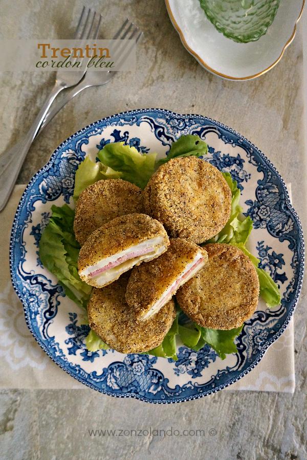 Ricetta cordon bleu con sedano rapa speck formaggio trentino - ham and cheese stuffed celeriac cake recipe