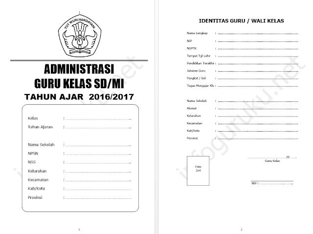 Download Contoh Administrasi Guru Kelas Sd Mi T A 2016 2017 Infoguruku