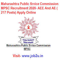 Maharashtra Public Srvice Commission MPSC Recruitment 2020, AEE And AE