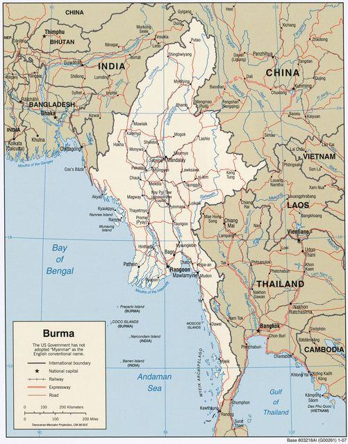 Letak Astronomis dan Geografis Myanmar, Keadaan Sosial Budaya, Perekonomian, Iklim serta Bentang Alam Myanmar