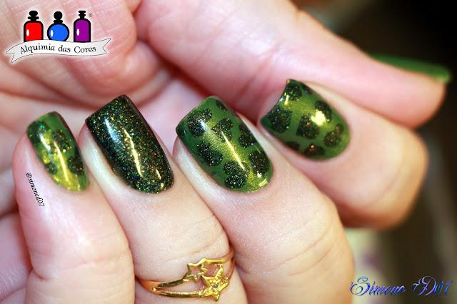 Nubar, N293 Cactus, FUN Lacquer, Green Foliage, Green, Verde, Semana Verde, Indie, Glitter, Cremoso, Shimmer, Dourado, Mony D07, Alquimia das Cores,