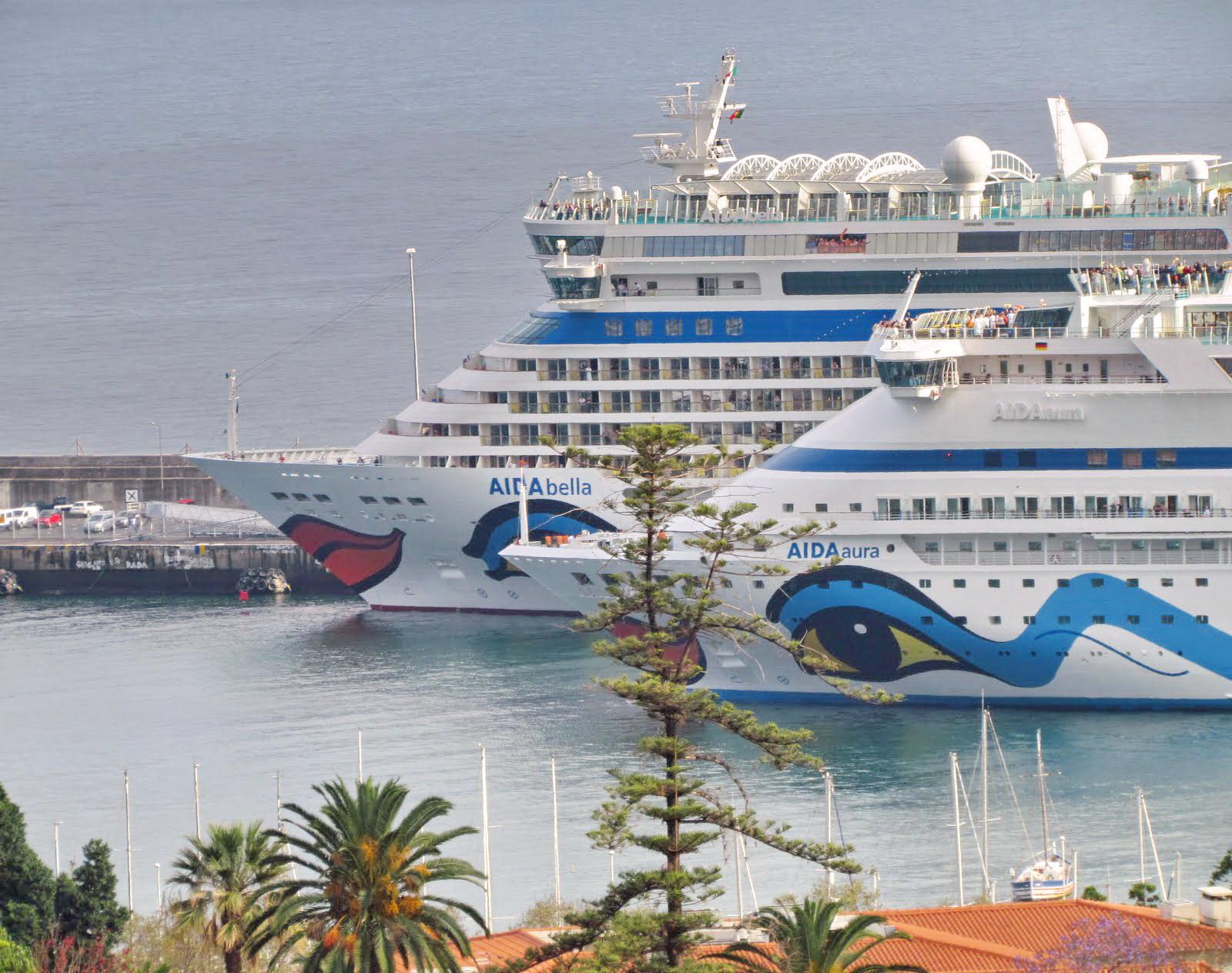 AIDA Cruises family in Funchal port