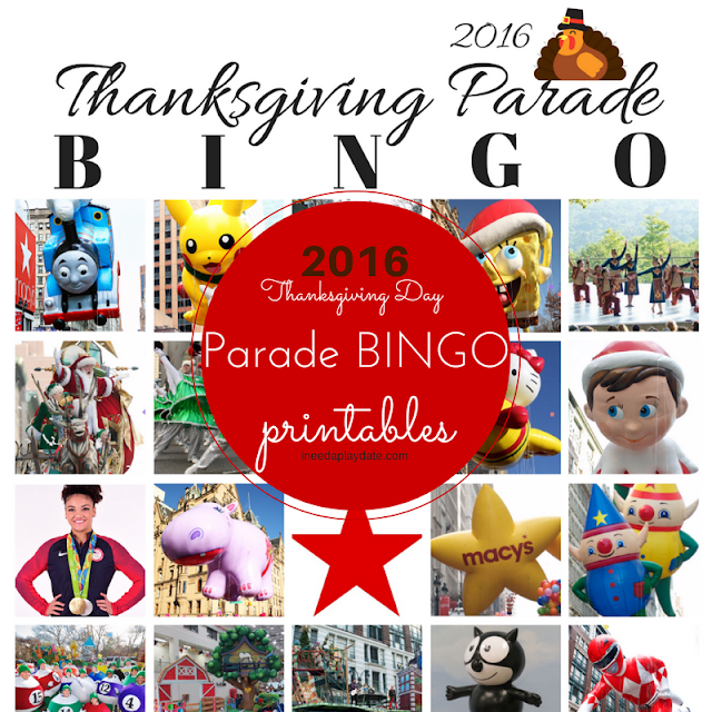 #MacysParade bingo cards for the 2016 Thanksgiving Day parade!
