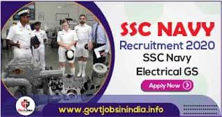 SSC Navy Electrical GS Recruitment