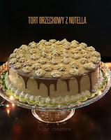 tort orzechowy z nutellą