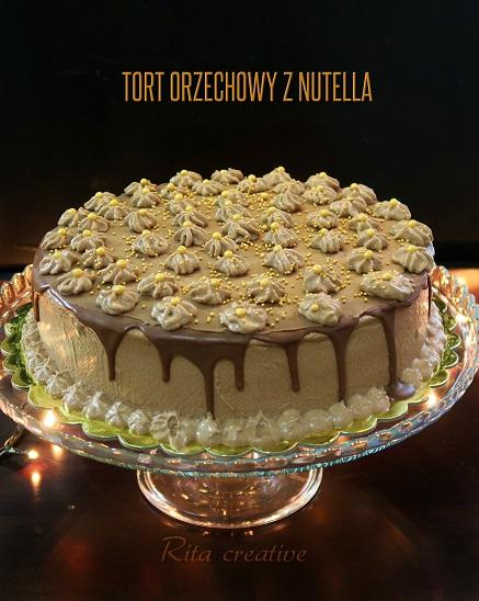 tort kakaowo orzechowy z nutellą