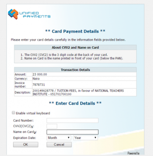 NTI Payment Page