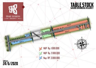 Siteplan dan table stock perumahan Grand Bhinneka Regency