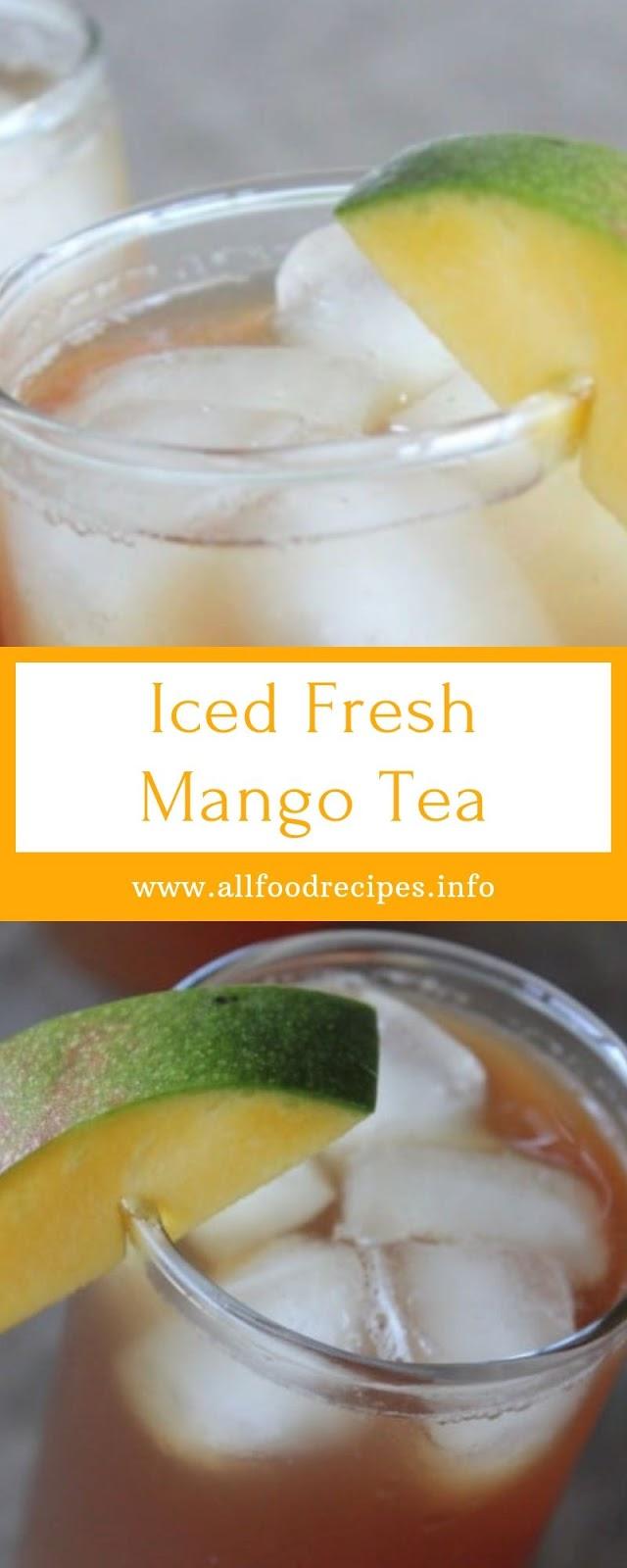 Iced Fresh Mango Tea