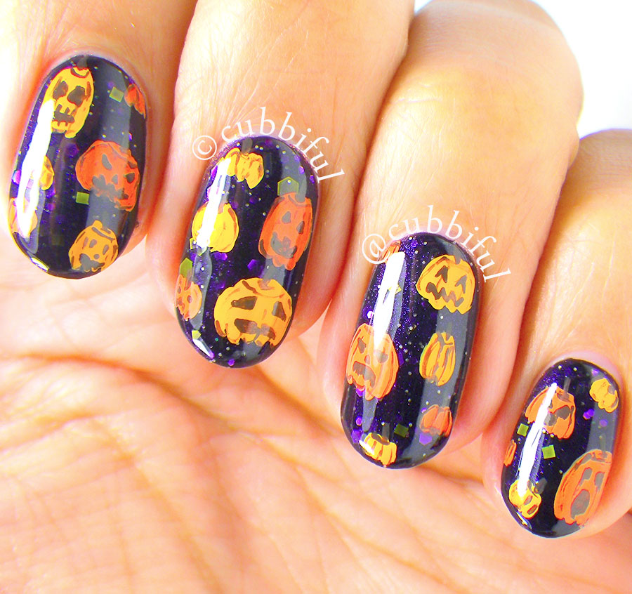 cubbiful: Halloween Nail Art - Pumpkins & Jack-o-Lanterns