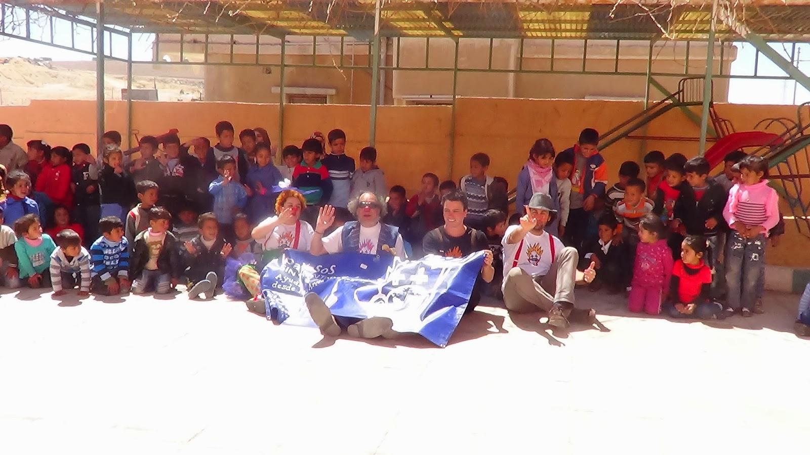 Moi Jordana amb Pallassos sense fronteres a Jordania 2013