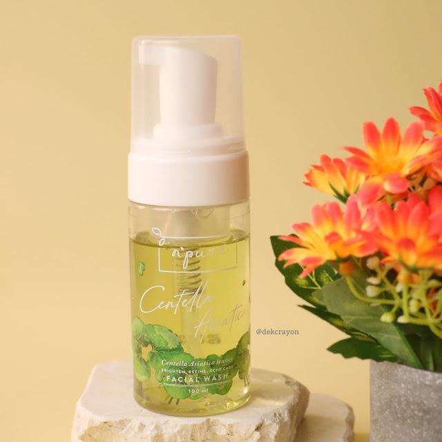 review Npure centella asiatica facial wash untuk kulit berjerawat