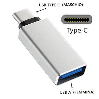 adattatore otg usb 3.0 type-c