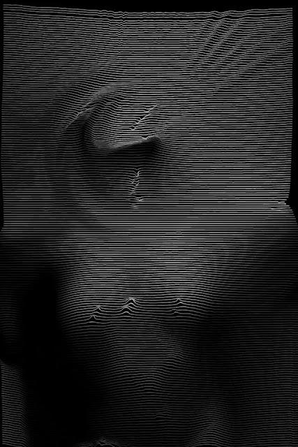 silhouette glitch