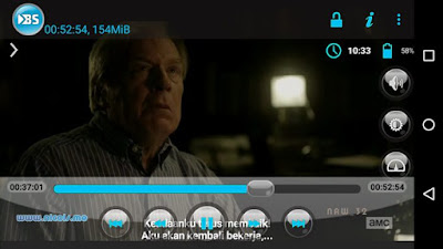 BSplayer for android lancar memainkan video HEVC